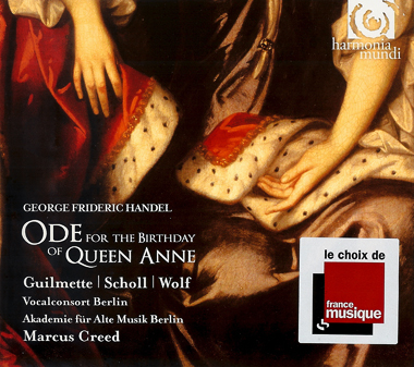 Ode for the Birthday of Queen Anne / Scholl/Creed/Wolf